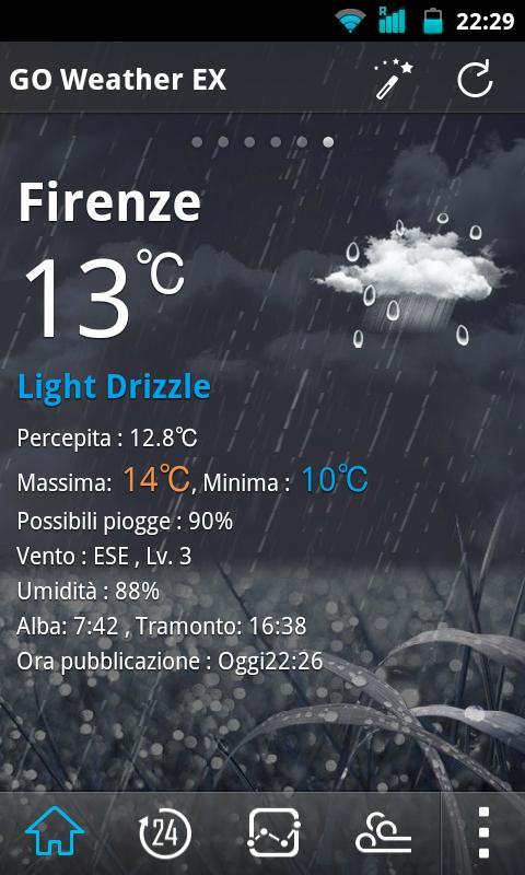 Italy Language GOWeatherEX - screenshot