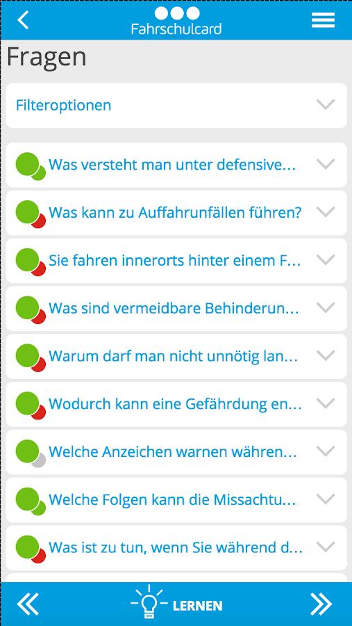 Fahrschulcard - screenshot