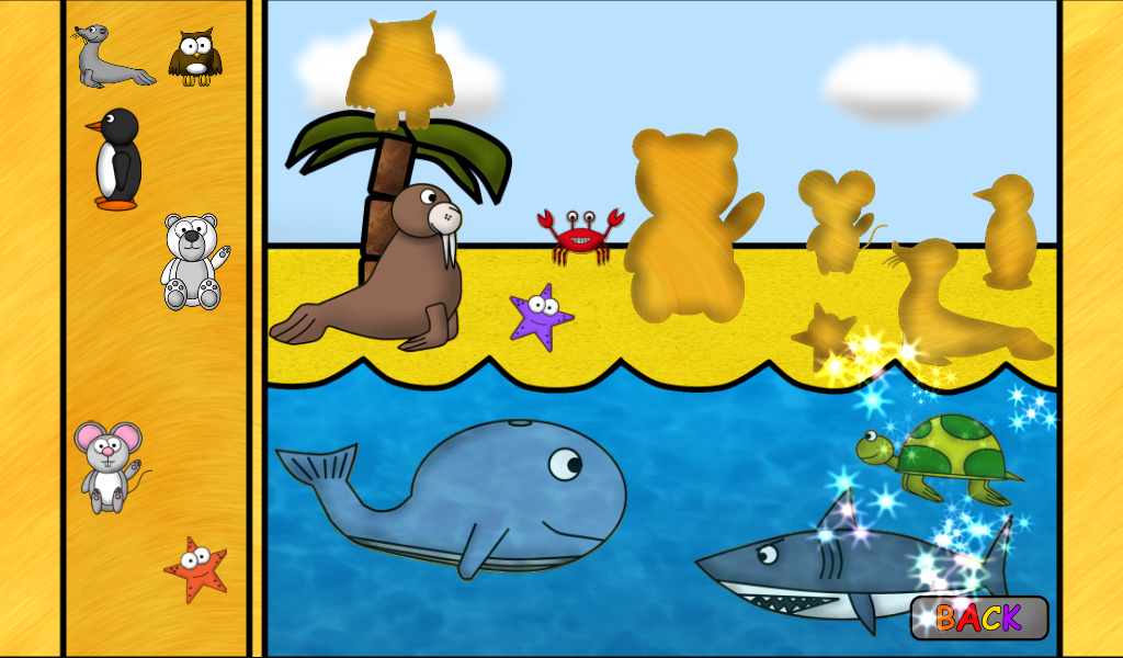kids animal puzzles golden screenshot - Images For Kids
