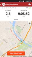 Screenshot of Map My Ride GPS Cycling Riding
