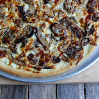 White Four-Mushroom Pizza