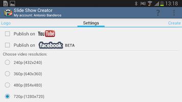 Screenshot of Slide Show Creator Pro