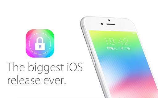 高仿 iOS 8 鎖屏
