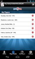 Screenshot of FantasyAlarm Fantasy Football