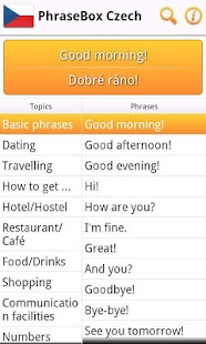 Phrasebook Czech- screenshot thumbnail