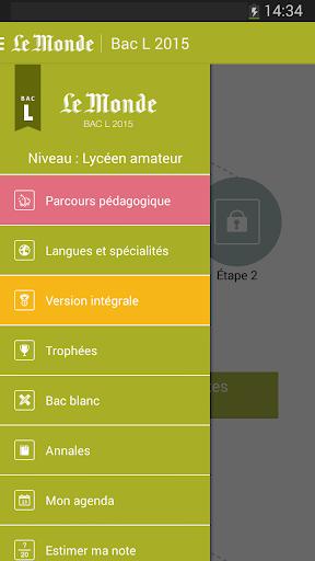 Bac L 2015 - Le Monde