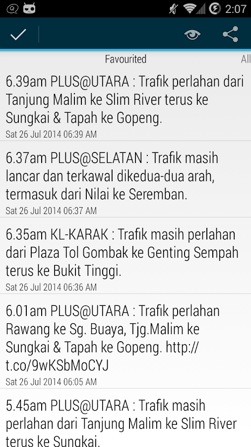 Info Trafik- screenshot
