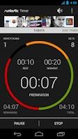Screenshot of Runtastic Workout Timer App