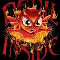 Devil Inside Flaming logo