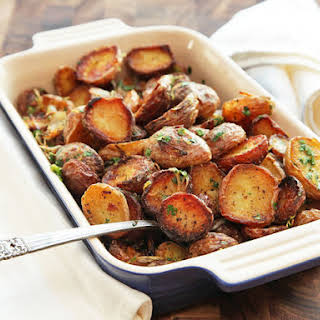 Ultra-Crispy New Potatoes With Garlic, Herbs, and Lemon.
