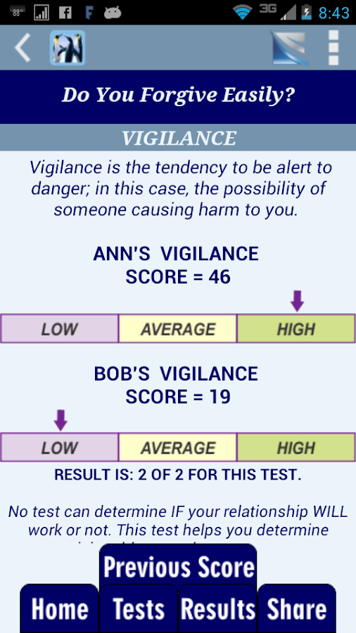 Know Your Relationships Tests - screenshot