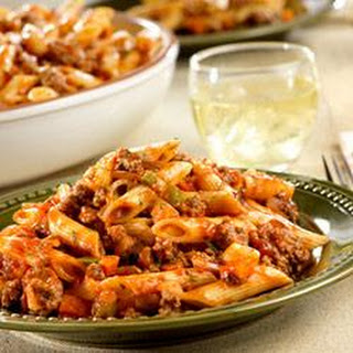 Quick and Spicy Beef with Penne.
