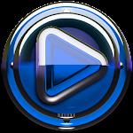 Poweramp skin Blue Glas deluxe v1.33