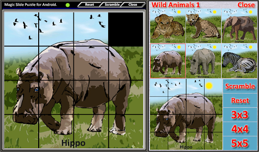 Magic Slide Puzzle W.Animals 1 Screenshot 5