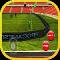 match de football en 3D icon