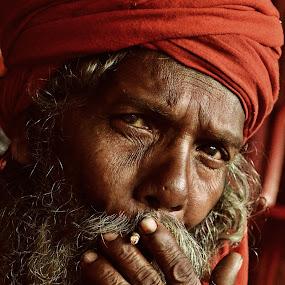 Smoking by Arnab Bhattacharyya - People Portraits of Men