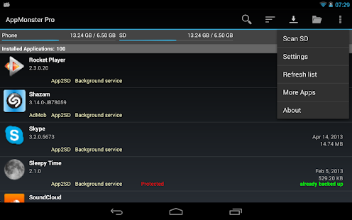 AppMonster Pro Backup Restore - screenshot thumbnail