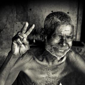 Victory by Prithiviraj Kiridarane - Black & White Portraits & People ( b/w, men, portrrait )