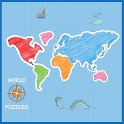 World Map Puzzle icon