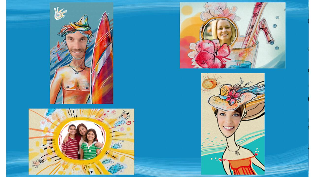 Summer Holiday Greeting Cards - screenshot