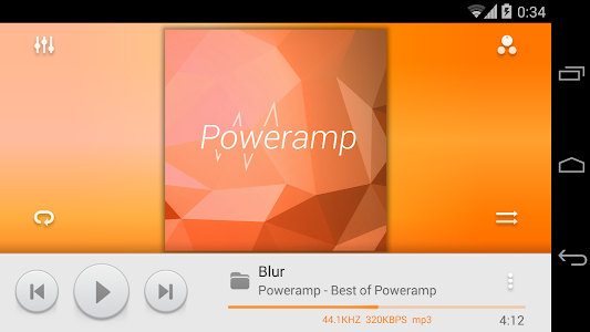 Skin for Poweramp MIUI Light screenshot 4