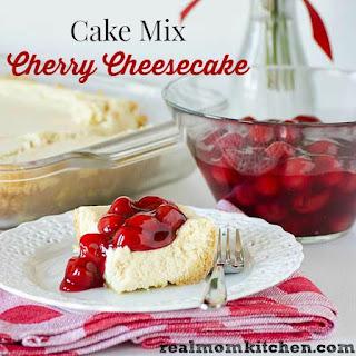 Cake Mix Cherry Cheesecake