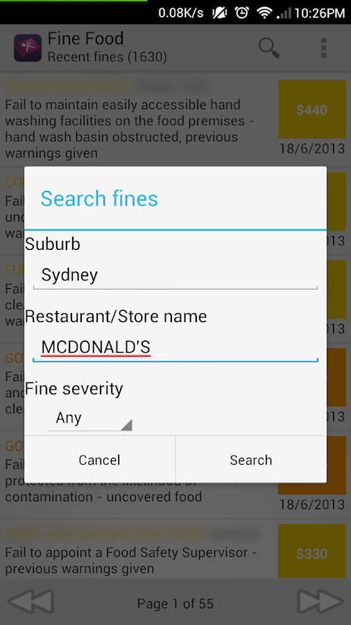 Fine Food - NSW Name and Shame- screenshot
