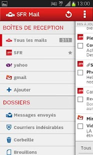 SFR Mail - screenshot thumbnail
