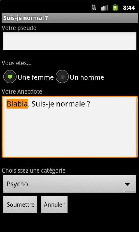 Suis-je normal ?- screenshot