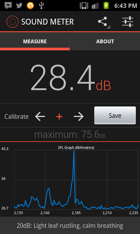 Sound Meter for Android- screenshot