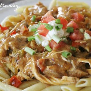 Chicken Enchilada Pasta.