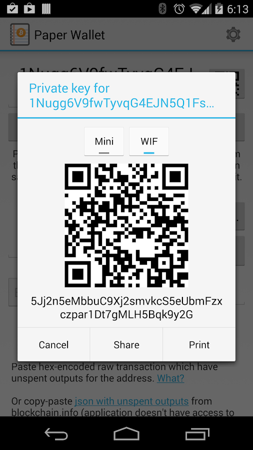 Bitcoin Paper Wallet- screenshot