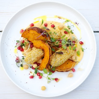 Baked Butternut Squash and Chickpea Falafels
