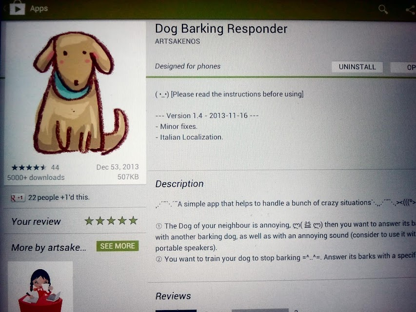 Barking Dog Security App