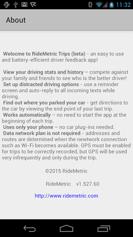 RideMetric Trips- screenshot
