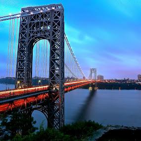 Great Gray Bridge by Ronald Susaya - Uncategorized All Uncategorized ( new york, hudson, new jersey, gwb,  )