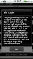 Screenshot of Droid X Flashlight