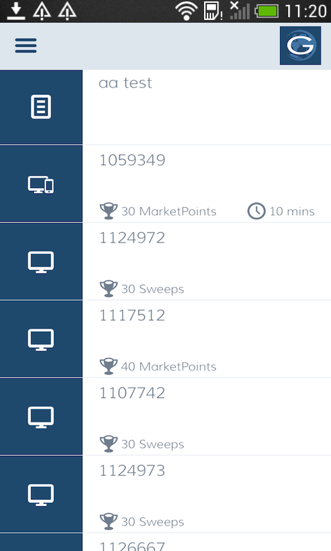 GlobalTestMarket- screenshot