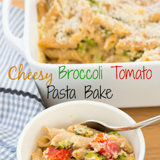 Cheesy Broccoli Tomato Pasta Bake