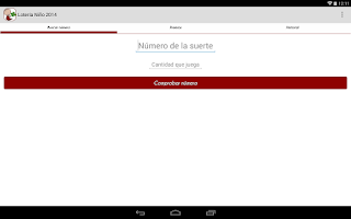 Screenshot of Lotería Niño 2015