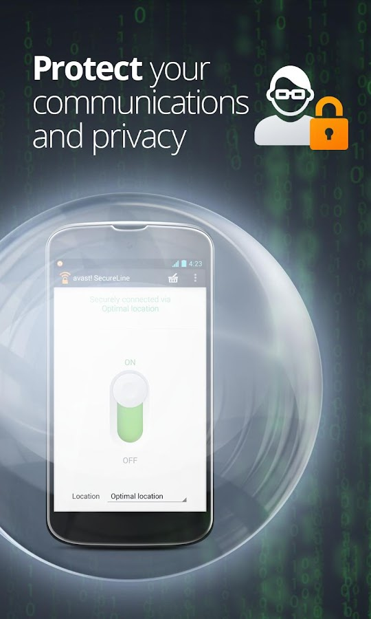 avast! SecureLine VPN - screenshot