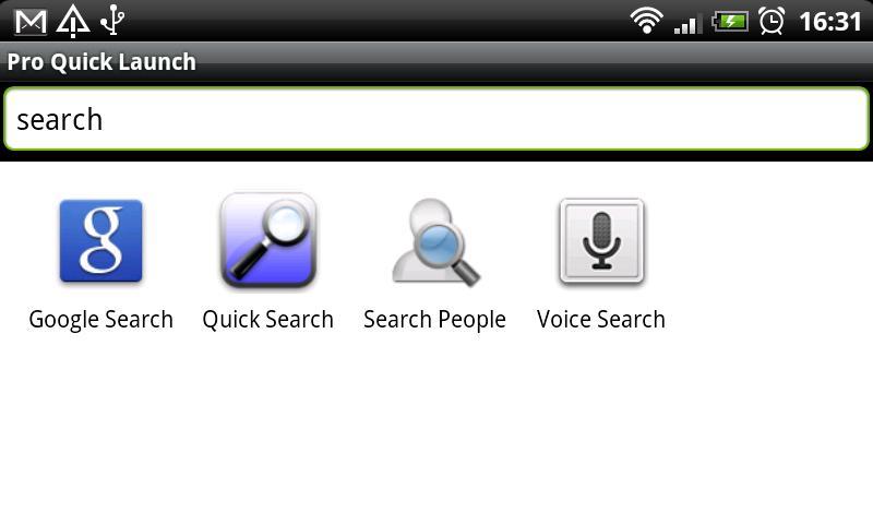 Quick Launch lite- screenshot