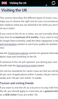 Screenshot of UK Immigration