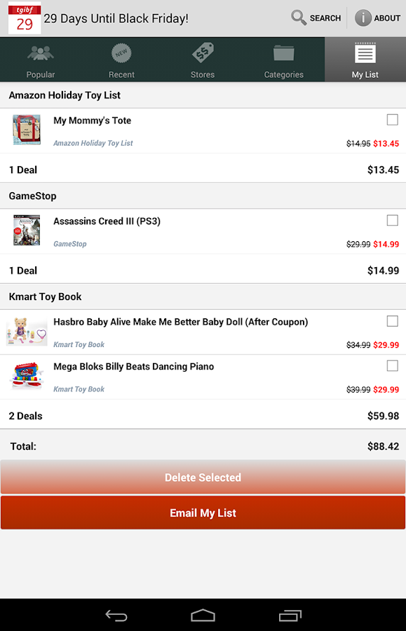 TGI Black Friday - 2015- screenshot