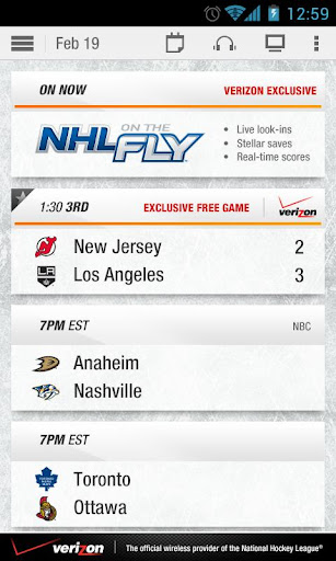 Description: NHL GameCenter App