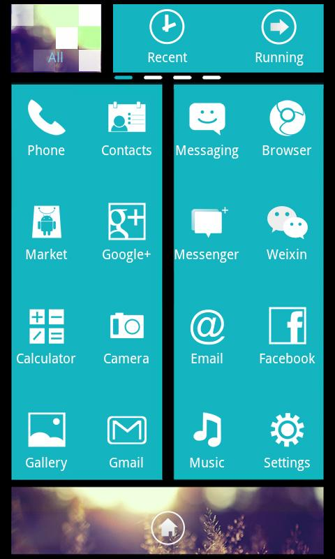 Blue Theme GO Launcher EX - screenshot