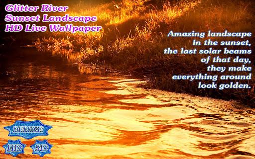 【免費個人化App】Glitter River Autumn Sunset-APP點子