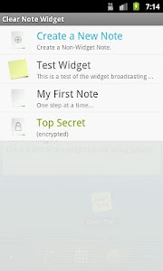 Clear Note Widget Sticky Notes screenshot 6