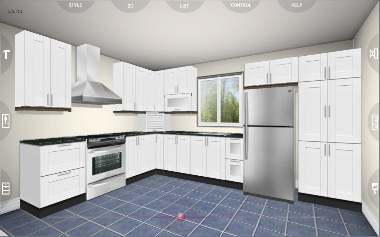 Eurostyle kitchen 3d design android apps on google play for Kitchen design planner