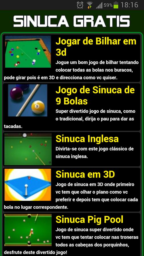Jogos de sinuca gratis - screenshot